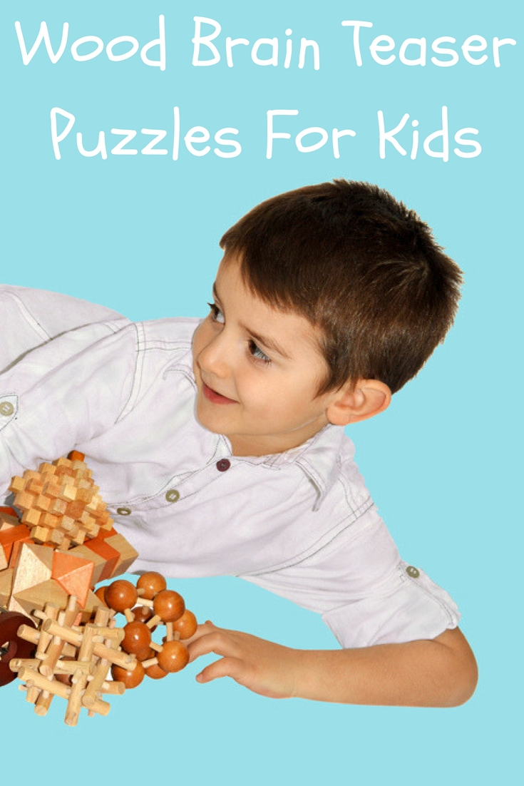 Keep kids occupied with these wood brain teaser puzzles