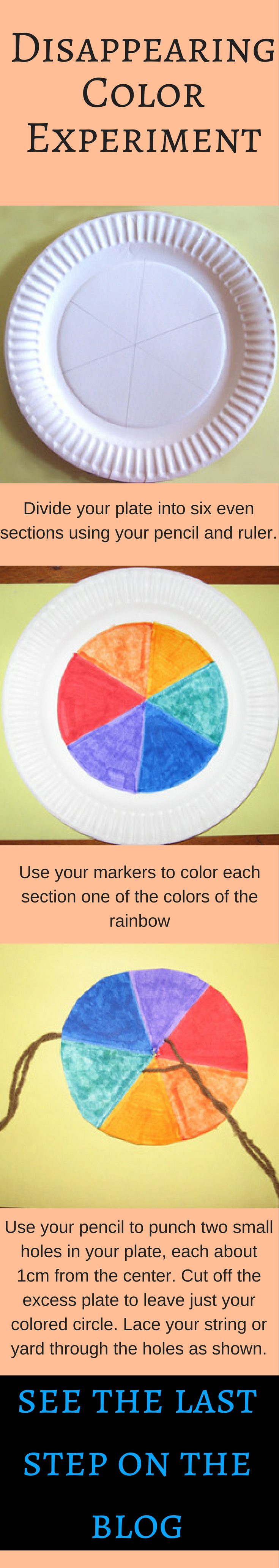This color experiment for kids will engage your child's young mind and build his visual skills. It will encourage experimentation & allow for lots of fun!