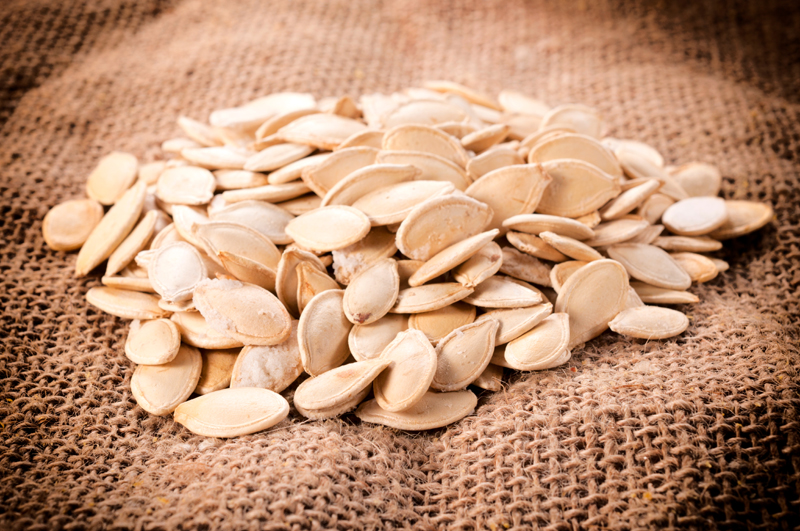 pumpkin seeds ready for kids to count