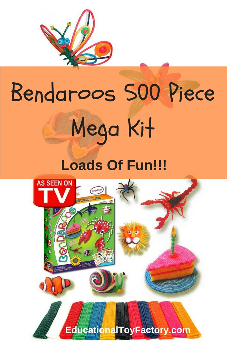 Encourage creativity in your child with the Bendaroos 500 piece mega kit. Watch your child spend hours and hours of fun creating!