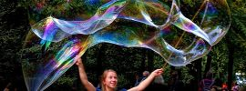 Homemade Giant Soap Bubbles