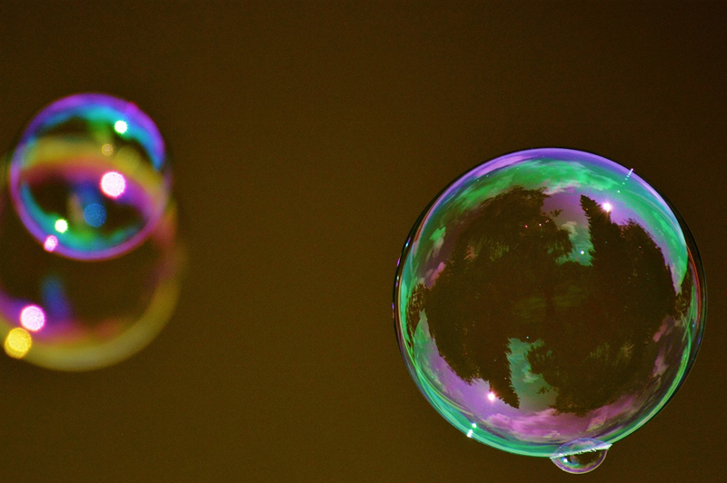 Teach your child about surface tension with bubbles!