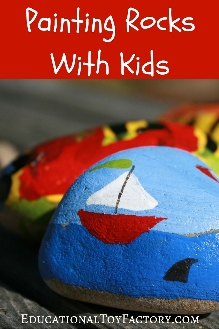 Have fun learning how to paint on rocks with kids