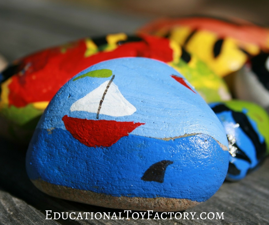 Painting Rocks With Kids - lots of fun for the entire family!