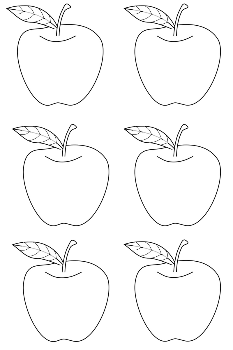 Apple glyph template