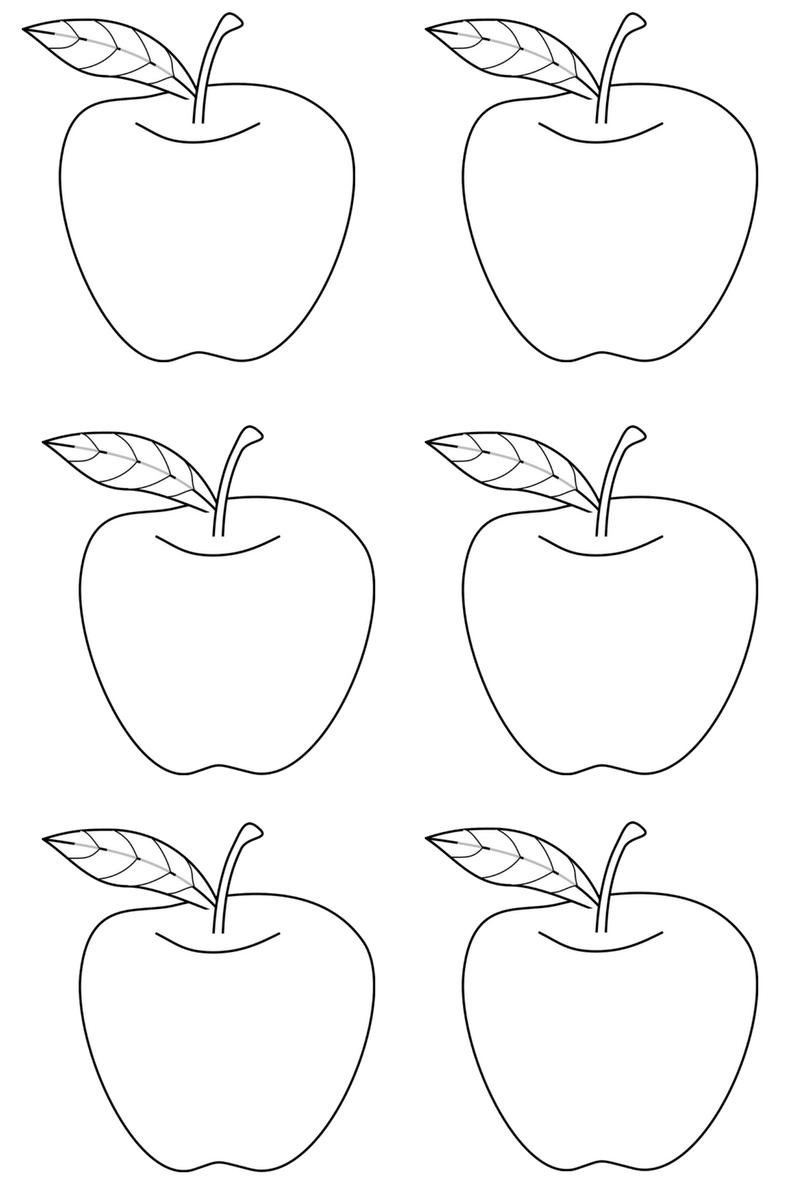 Apple glyph template