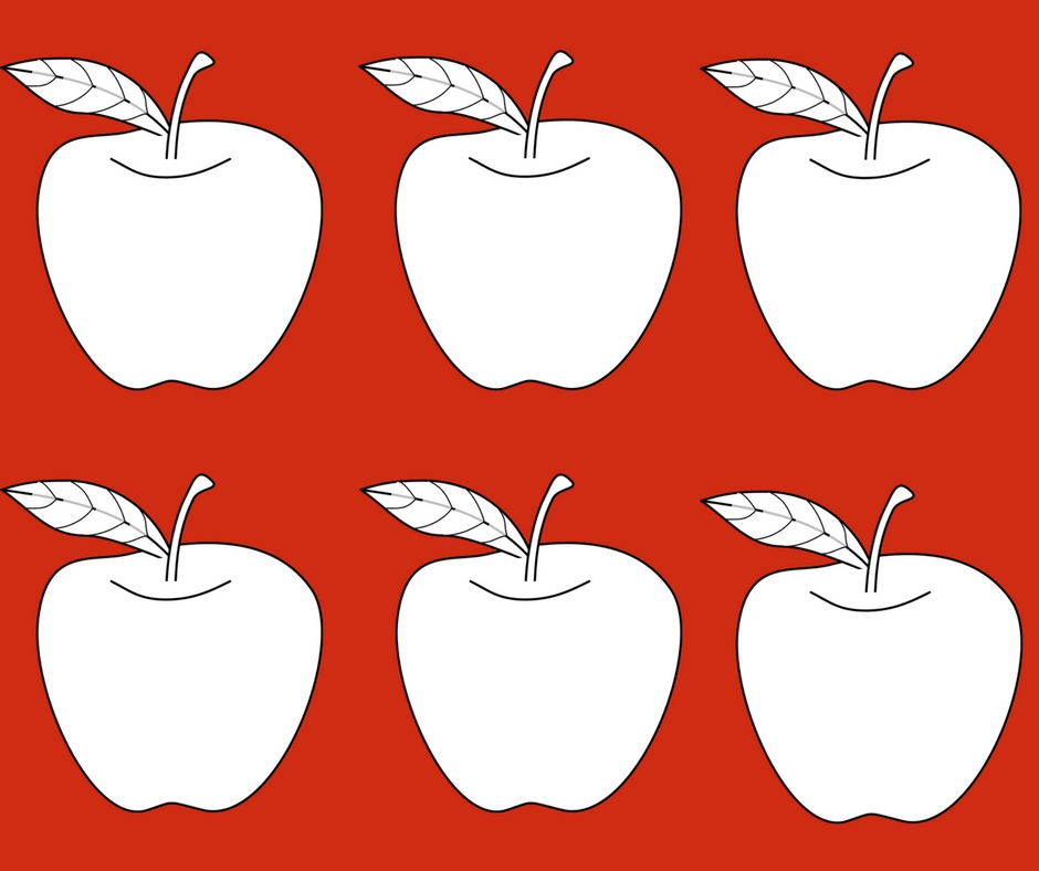 Apple glyphs for elementary school