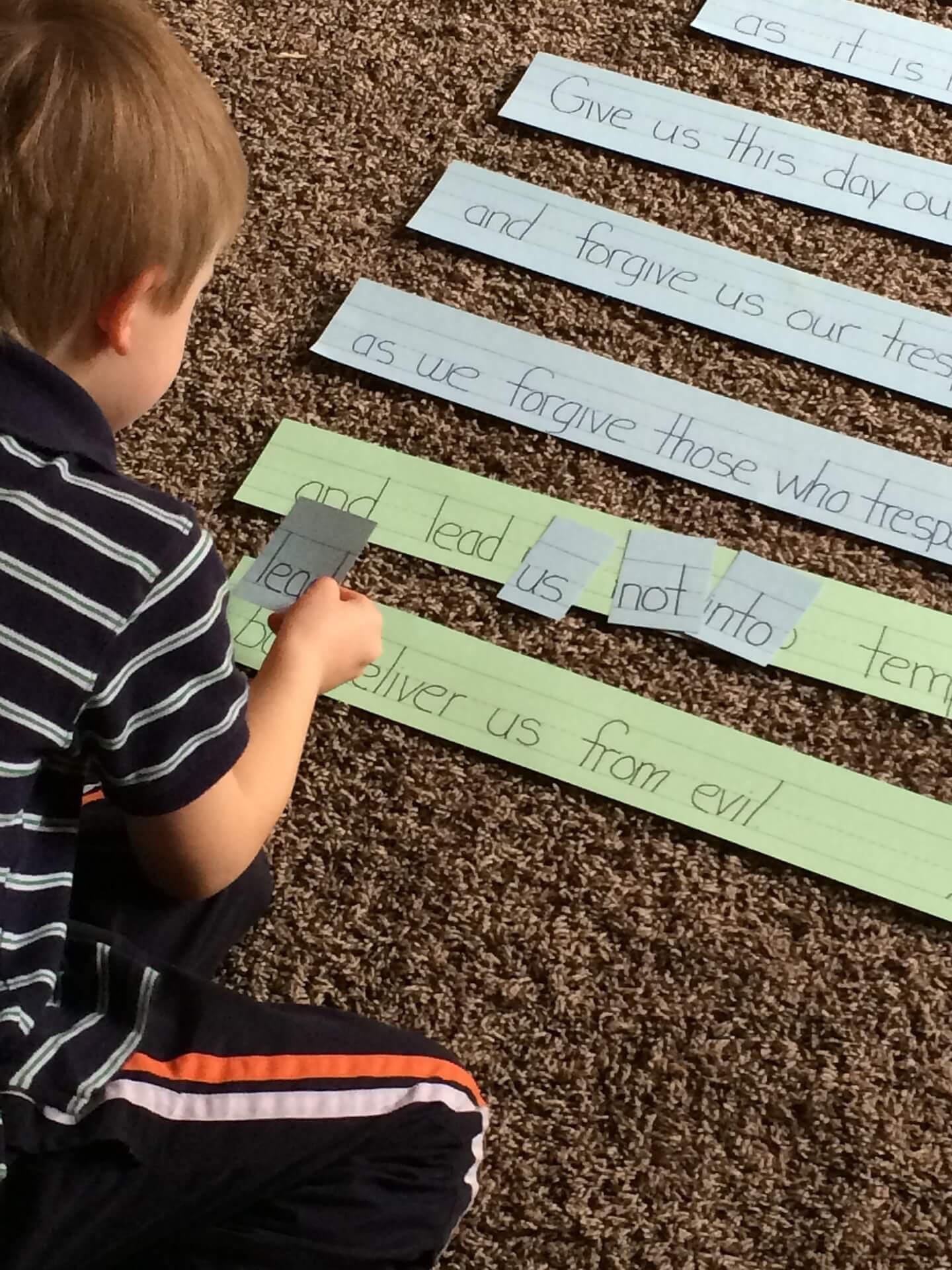 Child reading game