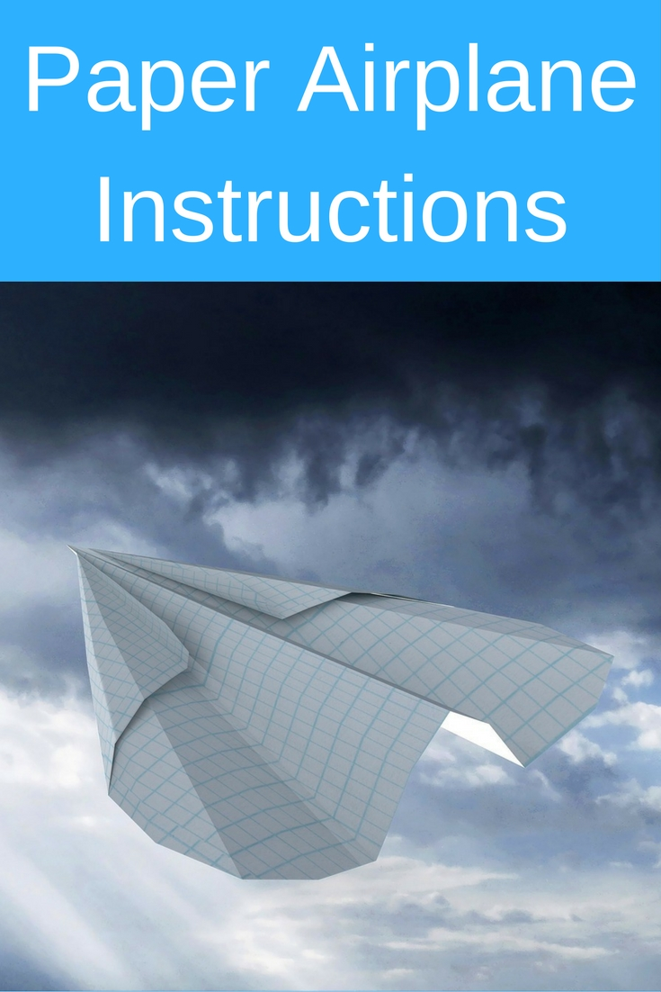 Check out these easy paper airplane instructions for kids, and see how much fun it is!