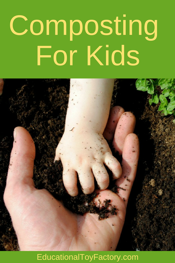 If you're trying to make composting for kids fun, there are a few tips and activity ideas. Teach them what goes in the compost pile and what doesn't, and how worms help making soil fertilizer.