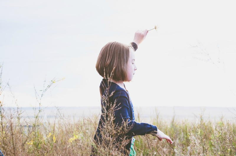 Girl exploring nature