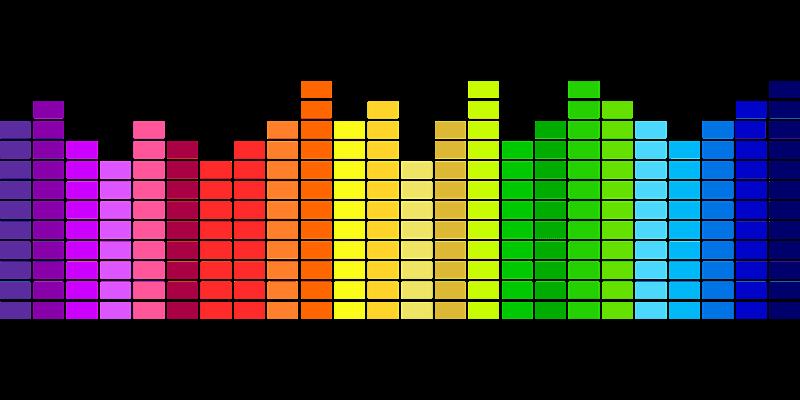 Sound visualized through rainbow colors