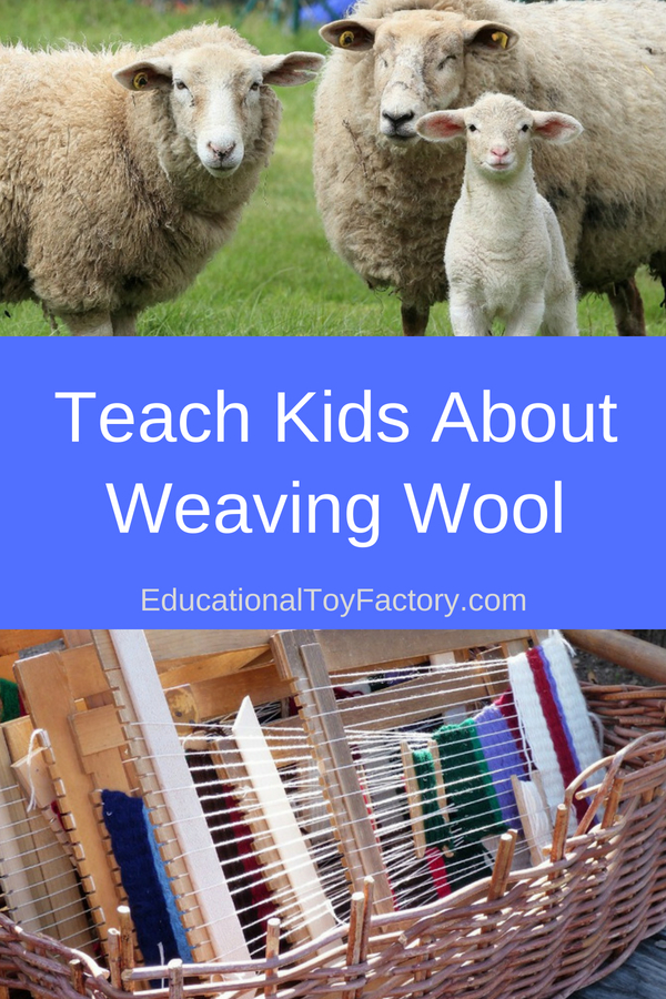 Teach kids wool weaving: it's a lot of fun to play with yarn, create simple weaving projects, and do a bit of finger knitting. This activity also enhances fine motor activity.